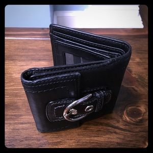 Black Leather Coach Wallet